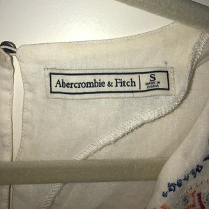 Abercrombie & Fitch Tops - Abercrombie & Fitch | White Embroidered Shirt